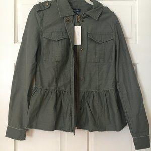 NWT Francesca's Olive Peplum Jacket